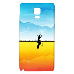 Worlds Angels Demons Contradictions  Galaxy Note 4 Back Case