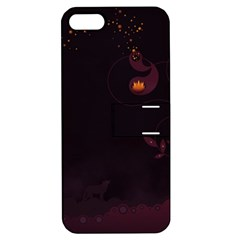 Wolf Night Alone Dark 11349 3840x2400 Apple Iphone 5 Hardshell Case With Stand