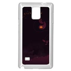 Wolf Night Alone Dark 11349 3840x2400 Samsung Galaxy Note 4 Case (white)