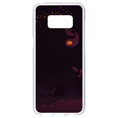 Wolf Night Alone Dark 11349 3840x2400 Samsung Galaxy S8 White Seamless Case