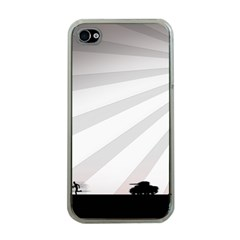 Shooting Tank Person Tree Sun  Apple Iphone 4 Case (clear)