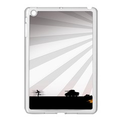 Shooting Tank Person Tree Sun  Apple Ipad Mini Case (white)