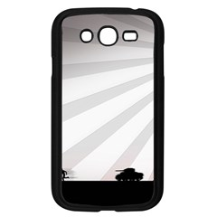 Shooting Tank Person Tree Sun  Samsung Galaxy Grand Duos I9082 Case (black)