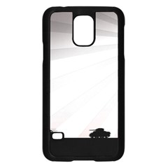 Shooting Tank Person Tree Sun  Samsung Galaxy S5 Case (black)
