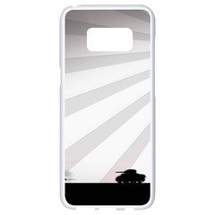Shooting Tank Person Tree Sun  Samsung Galaxy S8 White Seamless Case