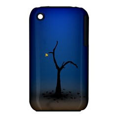Tree Lonely Blue Orange Dark  Iphone 3s/3gs