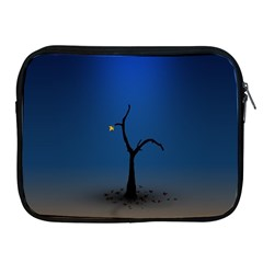 Tree Lonely Blue Orange Dark  Apple Ipad 2/3/4 Zipper Cases