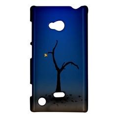 Tree Lonely Blue Orange Dark  Nokia Lumia 720