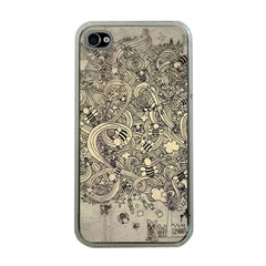 Patterns Dog Line Shape  Apple Iphone 4 Case (clear)