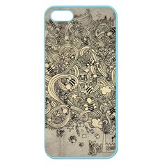 Patterns Dog Line Shape  Apple Seamless Iphone 5 Case (color)