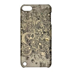 Patterns Dog Line Shape  Apple Ipod Touch 5 Hardshell Case With Stand