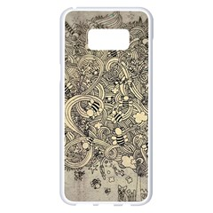 Patterns Dog Line Shape  Samsung Galaxy S8 Plus White Seamless Case