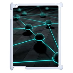 3d Balls Rendering Lines  Apple Ipad 2 Case (white)