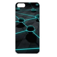 3d Balls Rendering Lines  Apple Iphone 5 Seamless Case (white)