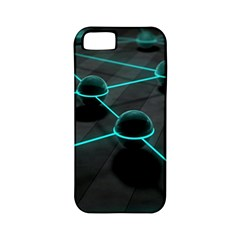 3d Balls Rendering Lines  Apple Iphone 5 Classic Hardshell Case (pc+silicone)