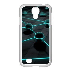 3d Balls Rendering Lines  Samsung Galaxy S4 I9500/ I9505 Case (white)