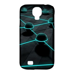 3d Balls Rendering Lines  Samsung Galaxy S4 Classic Hardshell Case (pc+silicone)