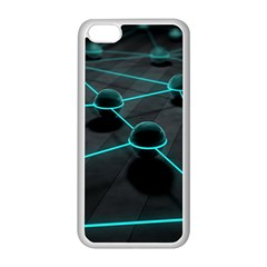 3d Balls Rendering Lines  Apple Iphone 5c Seamless Case (white)