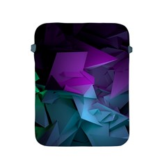 Abstract Shapes Purple Green  Apple Ipad 2/3/4 Protective Soft Cases