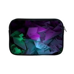 Abstract Shapes Purple Green  Apple Ipad Mini Zipper Cases