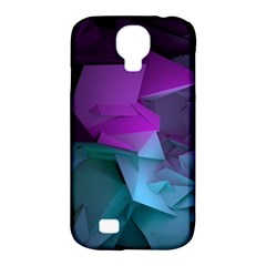 Abstract Shapes Purple Green  Samsung Galaxy S4 Classic Hardshell Case (pc+silicone)