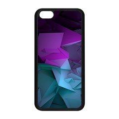 Abstract Shapes Purple Green  Apple Iphone 5c Seamless Case (black)