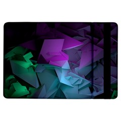 Abstract Shapes Purple Green  Ipad Air Flip