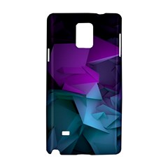Abstract Shapes Purple Green  Samsung Galaxy Note 4 Hardshell Case