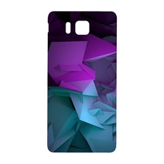 Abstract Shapes Purple Green  Samsung Galaxy Alpha Hardshell Back Case