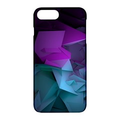Abstract Shapes Purple Green  Apple Iphone 7 Plus Hardshell Case