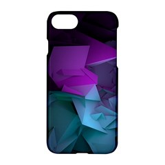 Abstract Shapes Purple Green  Apple Iphone 7 Hardshell Case