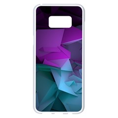 Abstract Shapes Purple Green  Samsung Galaxy S8 Plus White Seamless Case