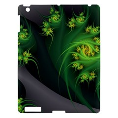 Abstraction Embrace Fractal Flowers Gray Green Plant  Apple Ipad 3/4 Hardshell Case