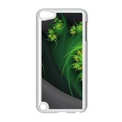 Abstraction Embrace Fractal Flowers Gray Green Plant  Apple Ipod Touch 5 Case (white)