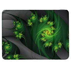 Abstraction Embrace Fractal Flowers Gray Green Plant  Samsung Galaxy Tab 7  P1000 Flip Case