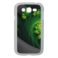 Abstraction Embrace Fractal Flowers Gray Green Plant  Samsung Galaxy Grand Duos I9082 Case (white)