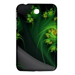 Abstraction Embrace Fractal Flowers Gray Green Plant  Samsung Galaxy Tab 3 (7 ) P3200 Hardshell Case