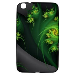 Abstraction Embrace Fractal Flowers Gray Green Plant  Samsung Galaxy Tab 3 (8 ) T3100 Hardshell Case