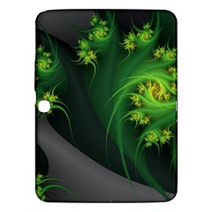 Abstraction Embrace Fractal Flowers Gray Green Plant  Samsung Galaxy Tab 3 (10 1 ) P5200 Hardshell Case