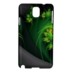 Abstraction Embrace Fractal Flowers Gray Green Plant  Samsung Galaxy Note 3 N9005 Hardshell Case