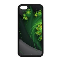 Abstraction Embrace Fractal Flowers Gray Green Plant  Apple Iphone 5c Seamless Case (black)