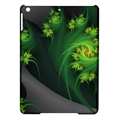 Abstraction Embrace Fractal Flowers Gray Green Plant  Ipad Air Hardshell Cases