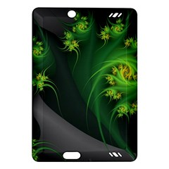 Abstraction Embrace Fractal Flowers Gray Green Plant  Amazon Kindle Fire Hd (2013) Hardshell Case