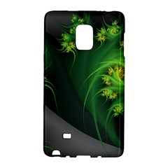 Abstraction Embrace Fractal Flowers Gray Green Plant  Galaxy Note Edge