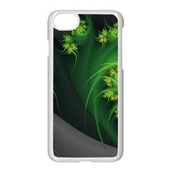 Abstraction Embrace Fractal Flowers Gray Green Plant  Apple Iphone 7 Seamless Case (white)