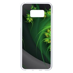 Abstraction Embrace Fractal Flowers Gray Green Plant  Samsung Galaxy S8 Plus White Seamless Case