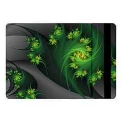 Abstraction Embrace Fractal Flowers Gray Green Plant  Apple Ipad Pro 10 5   Flip Case