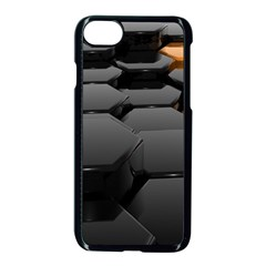 Orange Black Apple Iphone 7 Seamless Case (black)