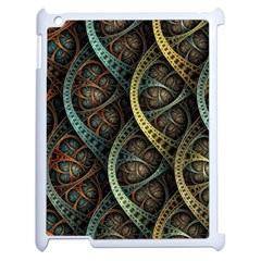 Line Semi Circle Background Patterns 82323 3840x2400 Apple Ipad 2 Case (white)