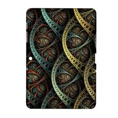Line Semi Circle Background Patterns 82323 3840x2400 Samsung Galaxy Tab 2 (10 1 ) P5100 Hardshell Case